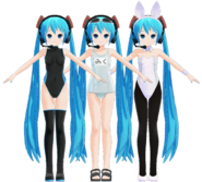Miku 2012 models B, C & D by Mashi