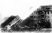 Russian artillery fire in Berlin