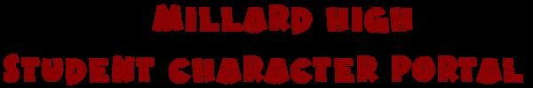 Millard High Student Character Portal