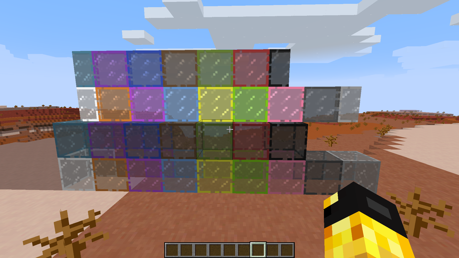 how to make stained glass in minecraft pc