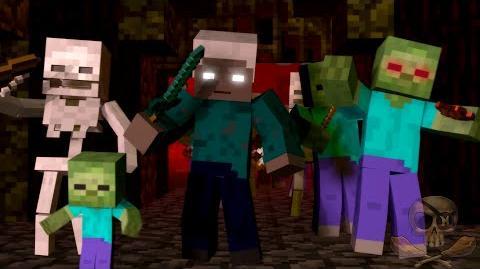 "♫ ""War"" - A Minecraft Parody song of ""Burn"" By Ellie Goulding ""Animated Minecraft Parody"""