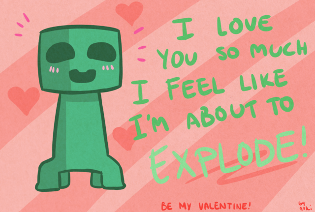 File:Crafty valentine 1 creeper by nokilakki-d5tfrrl.png