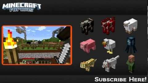 Minecraft Mobs Passive Mobs ( Hub)