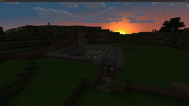 File:Minecraft house ideas sunset wallpaper epic HD HQ underground texture pack screenshot.jpg