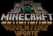 Minecraft logo adventure update