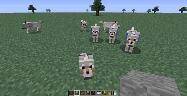 Minecraft wolf family!