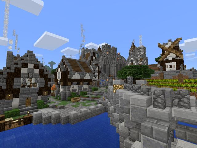File:Minecraft medieval city bridge.png