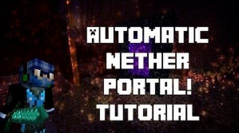Video Automatic Nether Portal Tutorial Cyberninjamc