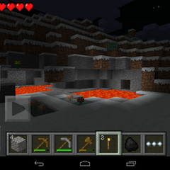 Rare Lava Pools in Snow Biomes