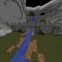 The secondary entrance to the castle (Requires TNT to access).