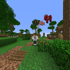 A player with multiple Balloons equipped