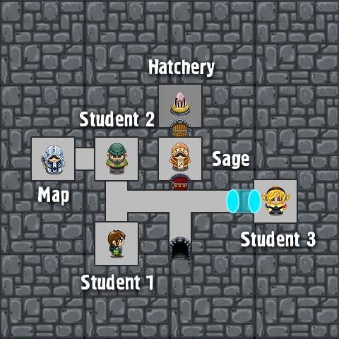 Floor 1-3 map