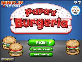 Papa's Burgeria Main Screen1