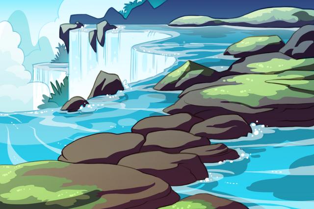 File:Water Island - Waterfall Battle bg.png