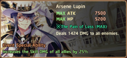 Arsène Lupin Special Ability Daemon Banner