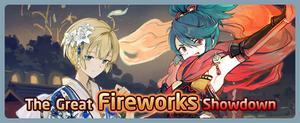 The Great Fireworks Showdown Banner
