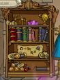Book Shelf with Dragon Literature
