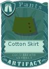 Cotton Skirt Green