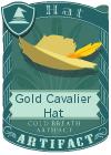 Gold Cavalier Hat Mint