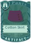 Cotton Skirt Purple