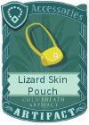 Lizard Skin Pouch Yellow