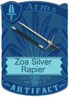 Zoa Silver Rapier