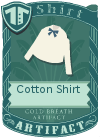Cotton shirt bow blue
