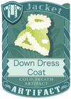 Down Dress Coat Green