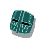 Bronze Helmet 2 Blue
