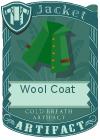 Wool coat collar green