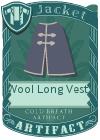 Wool Long Vest 3 Purple