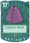 Cotton shirt collared purple