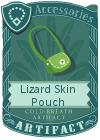 Lizard Skin Pouch Yellow Green