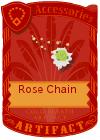 Rose Chain Green Yellow