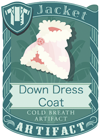Down Dress Coat Red