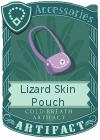 Lizard Skin Pouch Light Purple