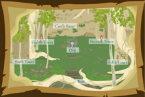 Celestial Castle Courtyard Map