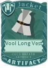 Wool Long Vest 2 Grey