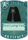 Wool Long Vest 4 Black