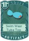 Swim Wear Tube Top Blue