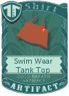 Swim Wear Tank Top Brown