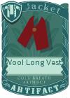 Wool Long Vest 1 Red