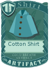 Cotton shirt collared blue