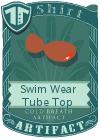 Swim Wear Tube Top Brown