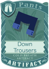 Down Trousers Blue
