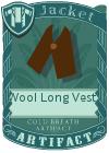 Wool Long Vest 1 Brown