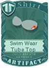 Swim Wear Tube Top Grey
