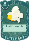 Gold Down Hat 2