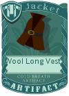 Wool Long Vest 2 Brown