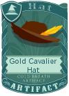 Gold Cavalier Hat Brown